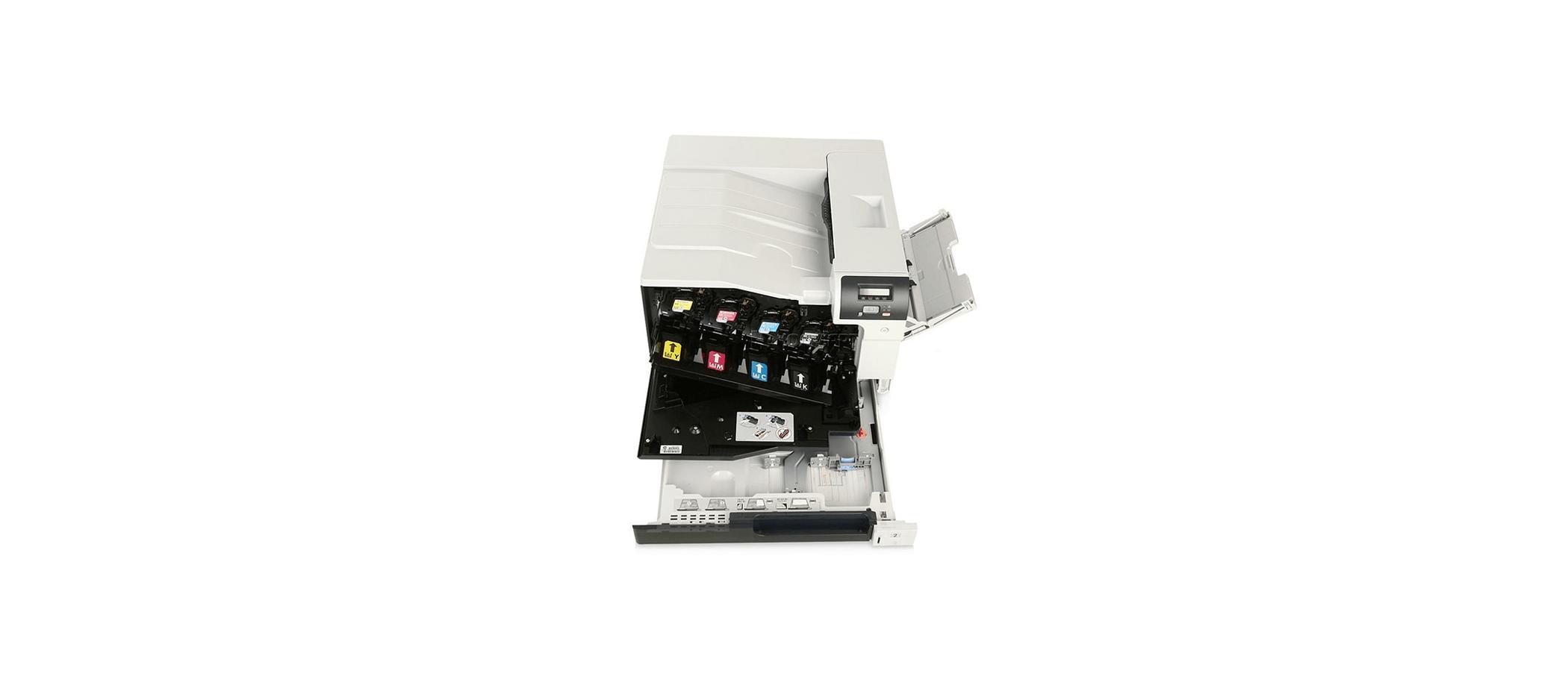 نحوه قرار گرفتن کارتریج ها در پرینتر اچ پی مدل 5225n لیزری و تک کاره رنگی