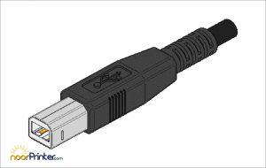 تصویر کابل اتصال چاپگر برای نصب و راه اندازی پرینتر