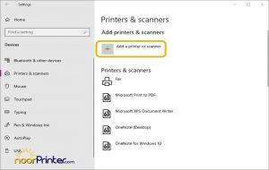 شناسایی دستگاه چاپگر