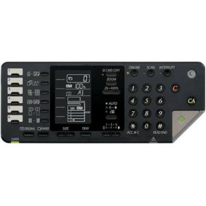 تصویر طراحی صفحه نمایش و دکمه های روی دستگاه کپی Sharp AR-x202